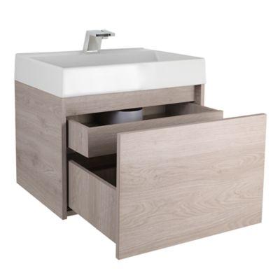 Mueble de baño Fussion Ceniza 60 cm con lavamanos