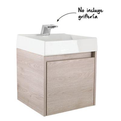 Mueble De Baño Fussion Ceniza 45 Cm Con Lavamanos