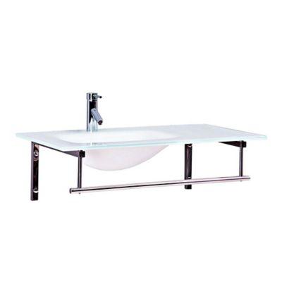 Mueble de baño 90x52 cm con lavamanos Vidrio