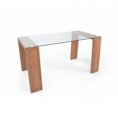 Mesa para Comedor Milán 76x120x79 cm en Vidrio templado y Estructura Arce