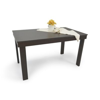 Mesa para Comedor Napoli 76x120x76 cm en Madera Aglomerada Wengue