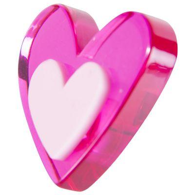Pomo Metacrilato Corazón 40 Mm