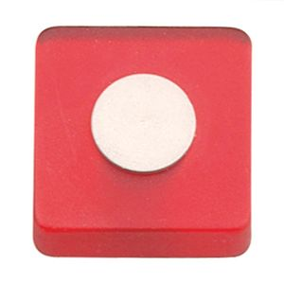 Pomo Metacrilato Rojo 30X30 Mm