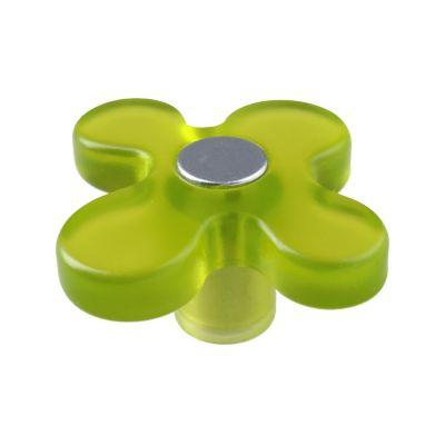 Pomo Abs Flor Verde 50 Mm