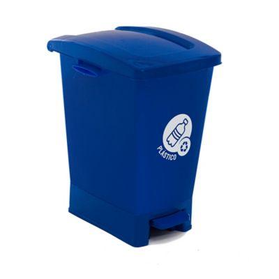 Caneca Pedal 27 Lt Azul Plástico