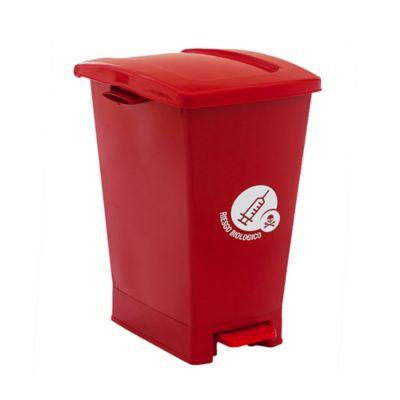 Caneca Pedal 27 Litros Rojo Riesgos Biológicos