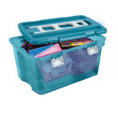 Caja Con Ruedas 81,4x44x57,5 cm 120 Lt Azul