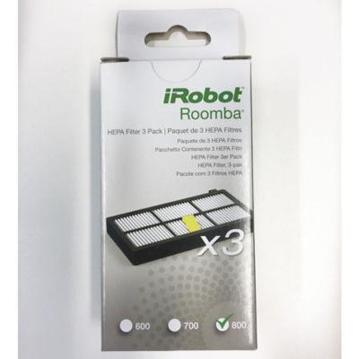 Kit De Reposición 3 Filtros Hepa Para Roomba Serie 800
