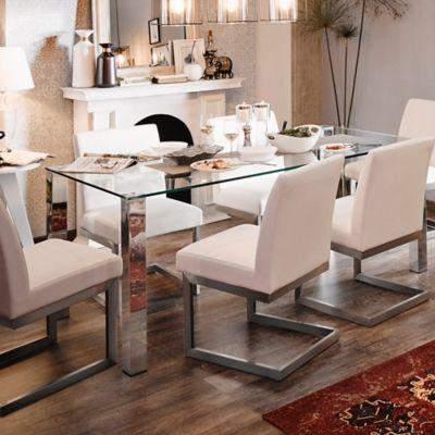Mesa para Comedor Kante 180x90x75 cm Vidrio