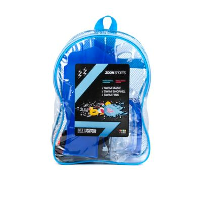 Set Natacion Snorkel-Aletas Fun Plus Azul Zoom