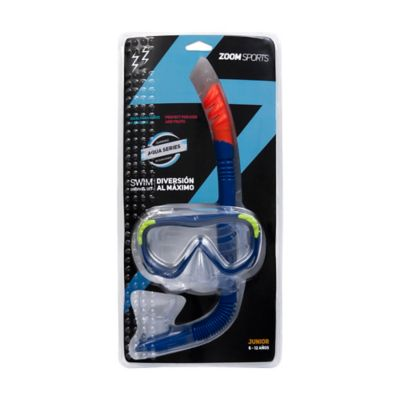 Set Careta+Snorkel Junior Sky Azul Zoom
