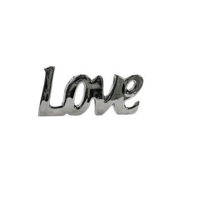Escultura Love 12.5 cm Plata