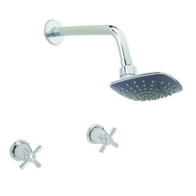 Grifería ducha mezclador Roble cuadrada sin salida bañera