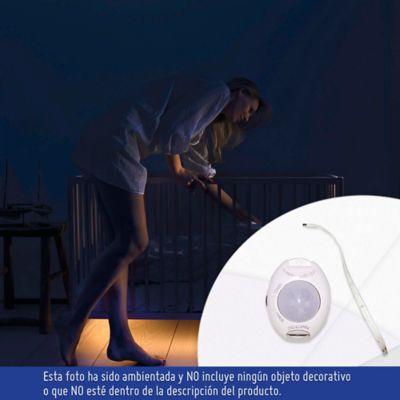 Sensor Movimiento Sencillo Con Luz LED 200 Lúmenes 3w Luz Cálida Blanco