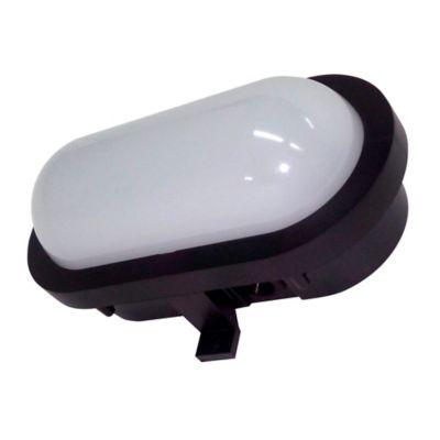 Aplique Pared LED 550 Lúmenes 6w Luz Fría Blanco Y Negro