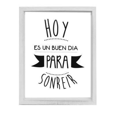 """Cuadro Decorativo 34x44 cm Frase  """"Hoy es un Buen Día para Sonreír  """""""