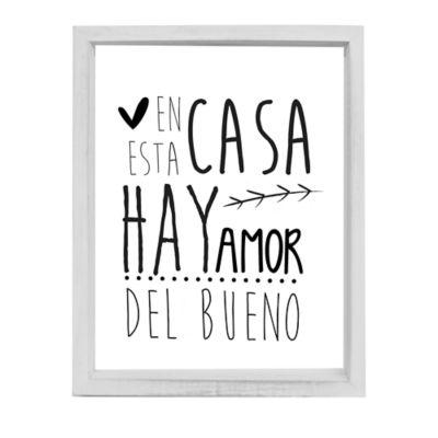 """Cuadro Decorativo Frase 34x44 cm """"En esta Casa Hay Amor del Bueno"""""""