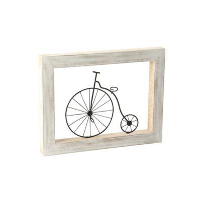 Cuadro Decorativo Figura 30x18 cm Bicicleta