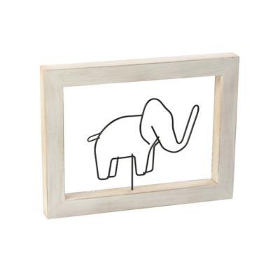 Cuadro Decorativo Figura 30x18 cm Elefante