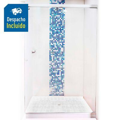 División para Baño Corrediza 150.1 a 160x180 cm Vidrio de 6 milímetros Amiga Platinum Básica
