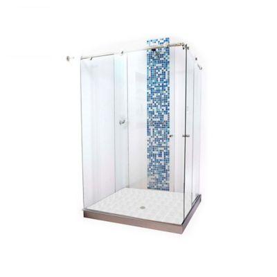 División para Baño Corrediza 140.1 a 150x180 cm Vidrio de 8 milímetros Premium Barra Deslizante Elite