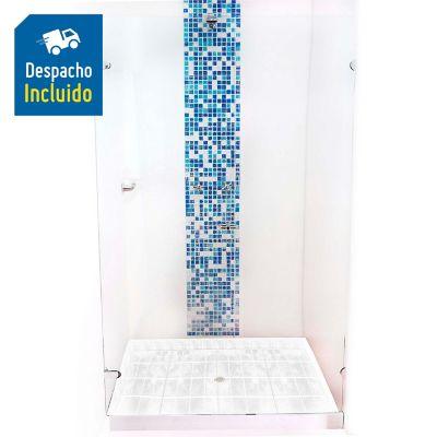División para Baño Batiente 120.1 a 130x180 cm Vidrio de 8 milímetros Premium