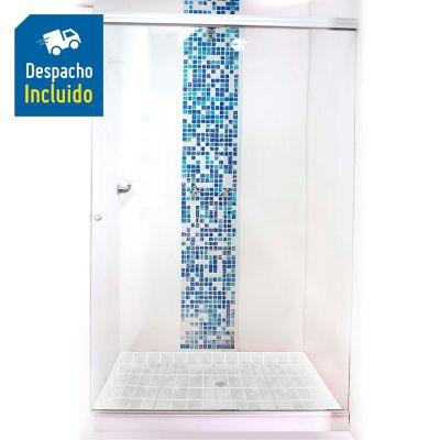 División para Baño Corrediza 110.1 a 120x180 cm Vidrio de 6 milímetros Stándar