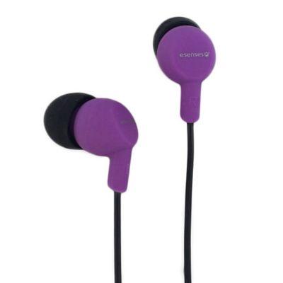 Audífonos con Micrófono Topo SiliconaMorado EB-200-MR/NG