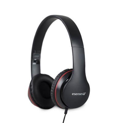 Audífonos con Micrófono Soporte Diadema Auriculares Negro HP-801