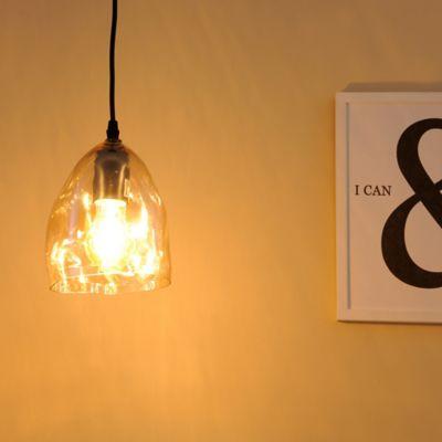 Lámpara Colgante Amie 1 Luz E27 Café