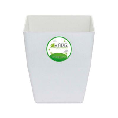 Matera Plástico 100% Reciclado Blanca 12 x 11 x 8 cm