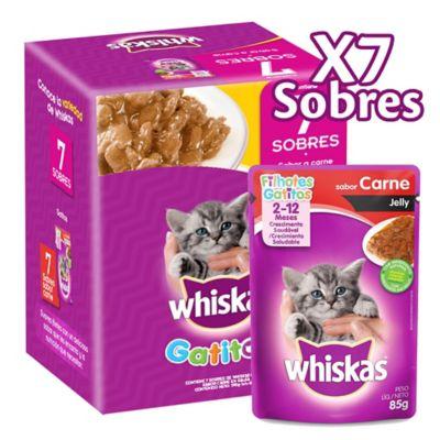 Alimento Húmedo Para Gatitos Carne Y Pollo Pack X 7 Sobres