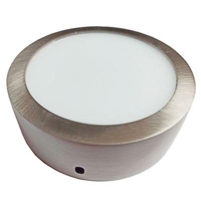 Plafón LED Redondo 450 Lúmenes 6w Luz Blanca 6500K  Cromo