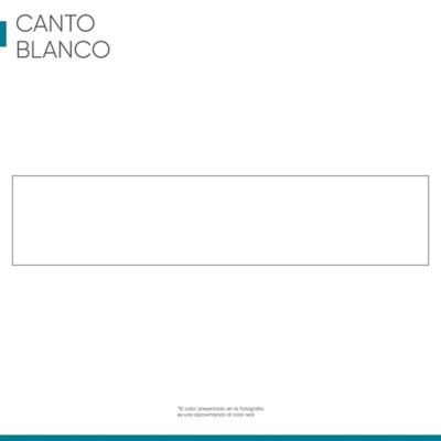 Canto Rigido 22 mm x 1m Blanco