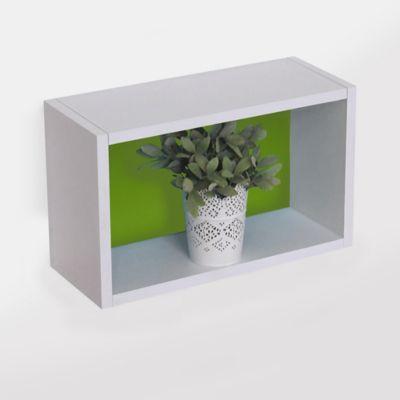 Repisa Rectángulo de 38 x 23 x 15 cm Blanco y Verde