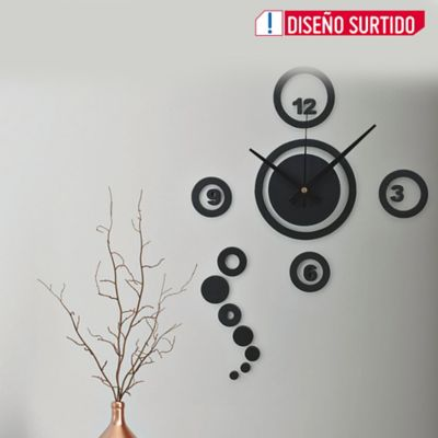 Reloj Pared Diy Circulos 23x23 cm Color Surtido