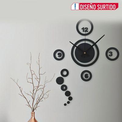 Reloj Pared Diy Circulos 23x23 cm Color Surtido
