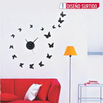 Reloj Pared Diy Mariposas 23x23 cm Color Surtido