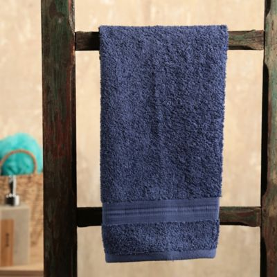 Toalla para Manos Lines 40x70 cm 100% Algodón Turco Azul Oscura