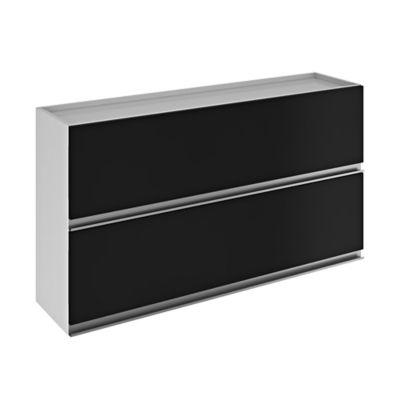 Mueble Superior para Cocina Clarice 2 Puertas 120x66x30 cm Blanco - Negro