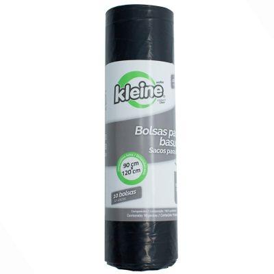 Bolsa Basura Rollo X10 Unidades  80x120cm 140 Litros Negra