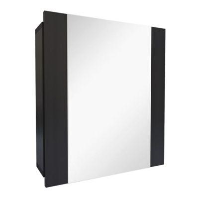 Gabinete para Baño con Espejo Niki 1 Puerta 48x42.6x11.5 cm Wengue