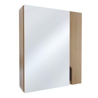 Gabinete para Baño con Espejo Lucía 1 Puerta 48x40x11.5 cm Rovere