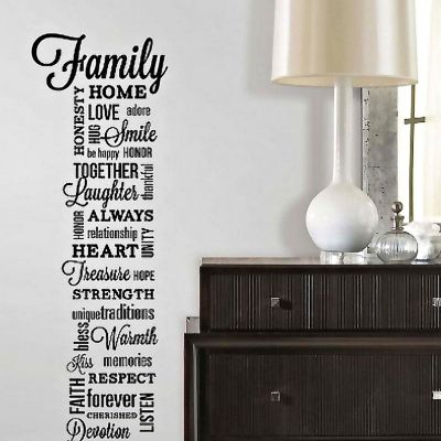 Sticker Frases Familia Multicolor