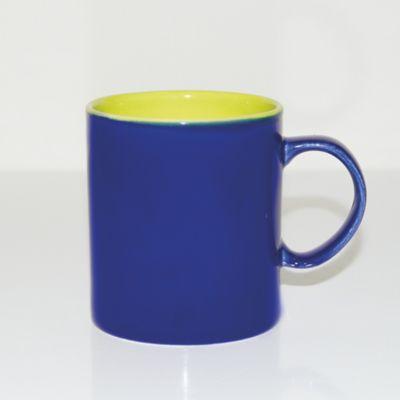 Mug 310ml Bicolor Azul Oscuro-Verde Limón