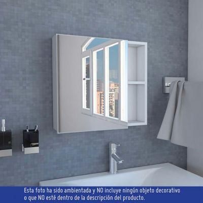 Gabinete para Baño Omari 1 Puerta con Espejo 47x50x12 cm Blanco