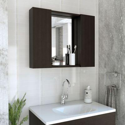 Gabinete para Baño Artemisa 2 Puertas con Espejo 49x60x11.8 cm Wengue