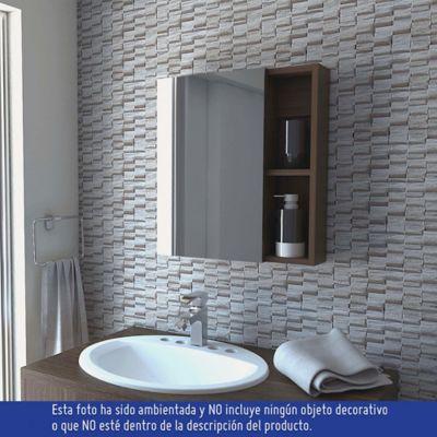 Gabinete para Baño Labelle 1 Puerta con Espejo 50x45x12.2 cm Amareto