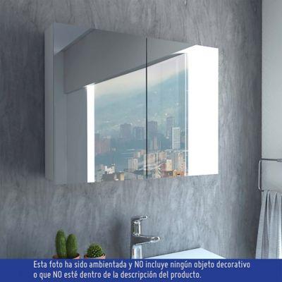 Gabinete para Baño Neve 2 Puertas con Espejo 47.3x60x12.2 cm Blanco