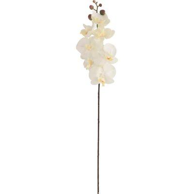 Flor Artificial Orquidea Blanca 69 cm